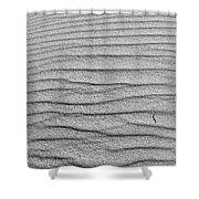 Dune Textures In Monochrome Shower Curtain
