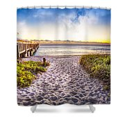 Dunes At The Pier Shower Curtain