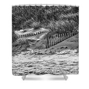 Dunes In Black And White Shower Curtain