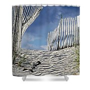 dunes in RI Shower Curtain