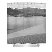 Dunes In The Valley Black And White Shower Curtain