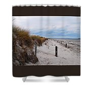 Dunes On A Blustery Day Shower Curtain