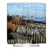 Dunes Shower Curtain by Valeria Donaldson