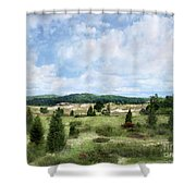 Dunescape Preserved Forever Shower Curtain