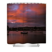 Dungarvan Harbor Sunset 2 Shower Curtain