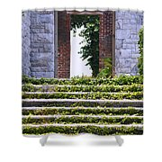 Dungeness Front Steps  Shower Curtain