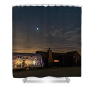 Dungeness House And Airstream Shower Curtain