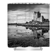 Dunguaire Castle In Black And White Shower Curtain