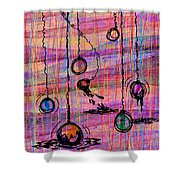 Dunking Ornaments Shower Curtain