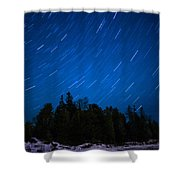 Dunks Point Star Trail Shower Curtain