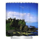 Dunluce Castle, Co Antrim, Irish, 13th Shower Curtain