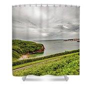 Dunmore East Cliffs Shower Curtain