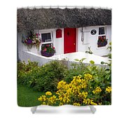 Dunmore East Harbour, County Waterford Shower Curtain