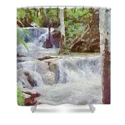 Dunn River Falls Shower Curtain