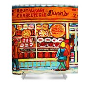 Dunn's Treats And Sweets Shower Curtain
