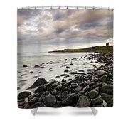 Dunstanburgh Castle Sunset Shower Curtain