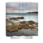 Duntulm At Sunset Shower Curtain