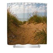 Nova Scotia's Cabot Trail Dunvegan Beach Dunes Shower Curtain