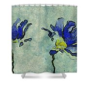 Duo Daisies - 02dp3b22 Shower Curtain by Variance Collections