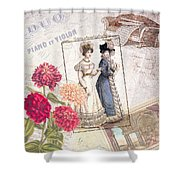 Duo For Piano And Violin Shower Curtain