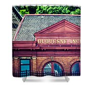 Duquesne Incline Of Pittsburgh Shower Curtain by Lisa Russo