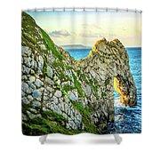 Durdle Dore - Ocean Rock Formation Shower Curtain