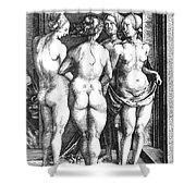 Durer Four Witches, 1497. For Licensing Requests Visit Granger.com Shower Curtain