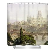 Durham Cathedral Shower Curtain by George Arthur Fripp