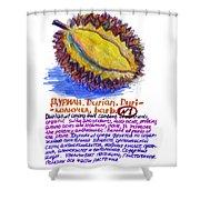 Durian Shower Curtain