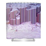 During The Snow Fall 33  Shower Curtain