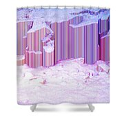 During The Snow Fall 35 Shower Curtain