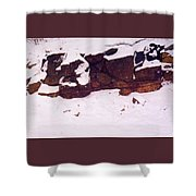 During The Snow Fall  Shower Curtain