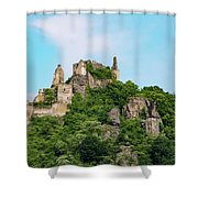 Durnstein Castle And Stone Outcroppings Shower Curtain