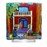 Durocher Street Montreal Shower Curtain