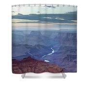 Dusk At Desert View Shower Curtain