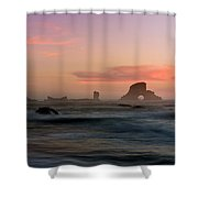 Dusk At Ecola Point Shower Curtain
