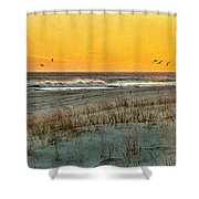 Dusk At The Shore Shower Curtain