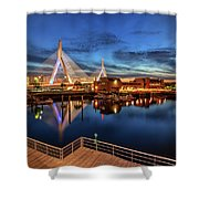 Dusk At The Zakim Bridge Shower Curtain