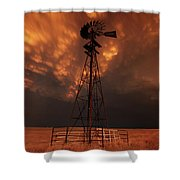 Dusk Down At The Mill Shower Curtain