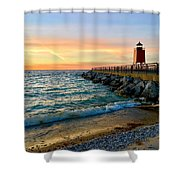 Dusk In Charlevoix Shower Curtain