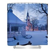 Dusk In Templeton Shower Curtain by Susan Cole Kelly