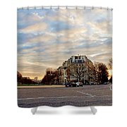 Dusk Shower Curtain by Milan Mirkovic