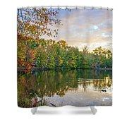 Dusk On Autumn Lake  Shower Curtain