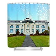 Dusk On Pacific County Historical Courthouse  Shower Curtain