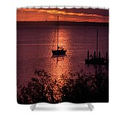 Dusk On The Bay Shower Curtain