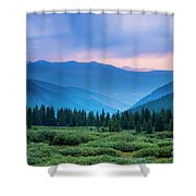 Dusk Over Guanella Pass Shower Curtain