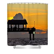 Dusk Over The Gulf Shower Curtain