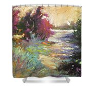 Dusk Over The Marshes Shower Curtain