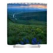 Dusk Over The Yakima Valley Shower Curtain