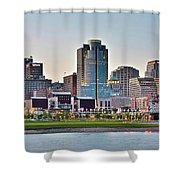 Dusk Pano In Cincinnati Shower Curtain